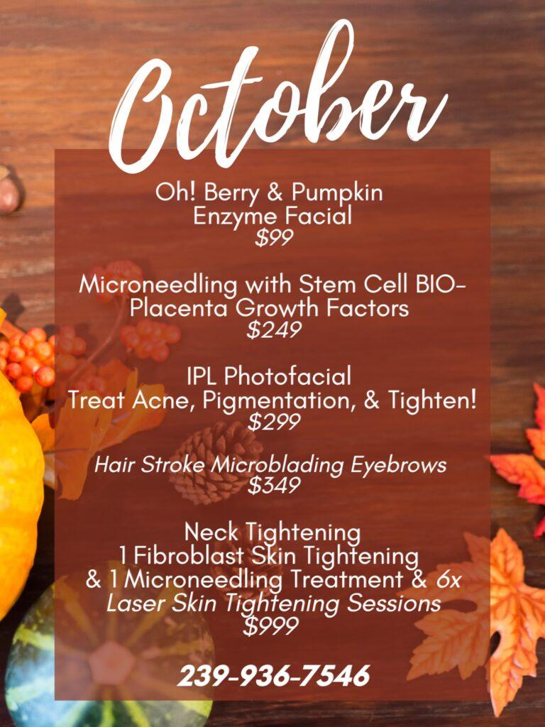 Florida Spa Specials this October